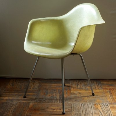 First Edition Zenith Rope Edge Eames SAX Chair in Lemon Yellow