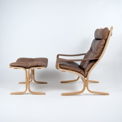 Siesta Chair & Ottoman by Ingmar Relling for Westnofa Norway, 1960s