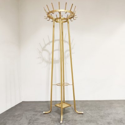 Vintage golden coat stand, 1960s