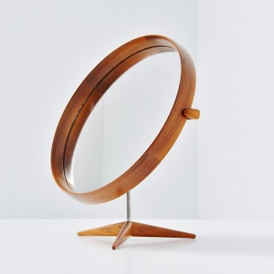 Uno & Osten Kristiansson table mirror by Luxus Sweden, 1960
