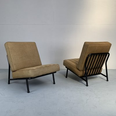 Set model 013 easy chairs by Alf Svensson for Dux, Sweden 1950s