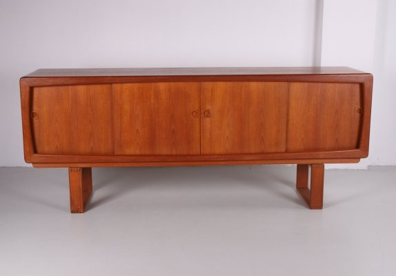 Large Danish sideboard with sliding doors by H.W. Klein