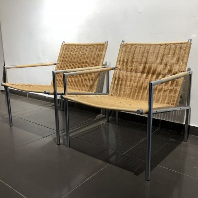 Pair of 'SZ01' Easy Chairs by Martin Visser for 't Spectrum, 1960s
