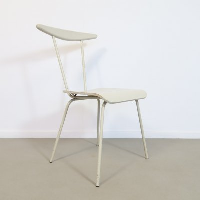 Gray painted wooden chair by Wim Rietveld, 1950s