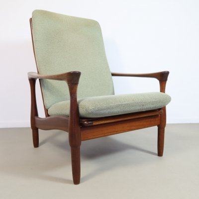 Early teak lounge chair by De Ster