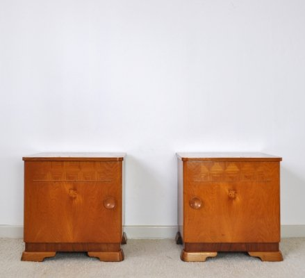 Danish Art Deco pair of Nightstands or Small Cabinets