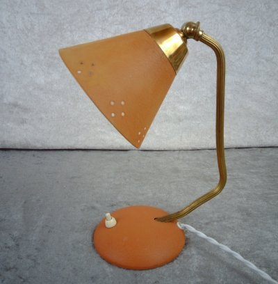 Mid-century industrial desk/ wall lamp from EWÅ, Värnamo Sweden, 1950's