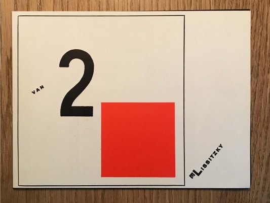 Van Twee Kwadraten book by El Lissitzky for De Stijl 1922, Edited by Theo van Doesburg