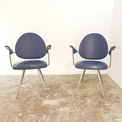 Pair of Mid century W.H. Gispen for Kembo 'Model 302' chairs, 1950s