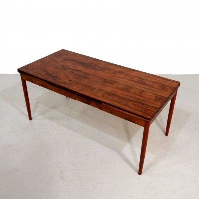 Mid century Danish extendable rosewood dining table, 1960s