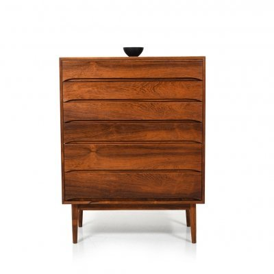 Mid Century Danish Tallboy Chest by Svend Langkilde