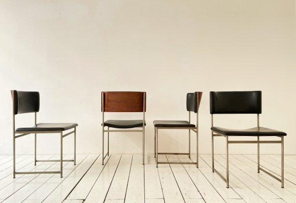 Set of 4 SM08 dining chairs by Cees Braakman for Pastoe, 1960s