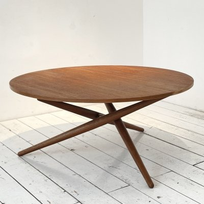 Height-adjustable coffee / dining table by Jürg Bally for Wohnhilfe, 1950s
