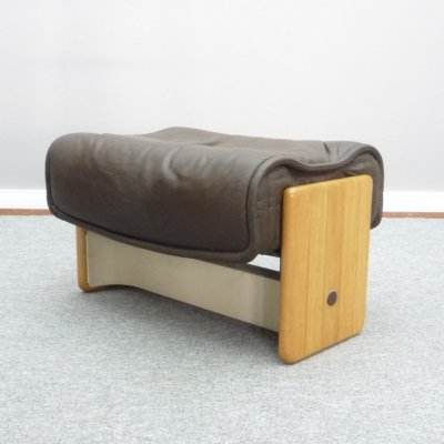 Follow Me Leather Stool by Otto Zapf for Knoll International, 1970s