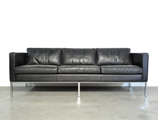Modern 3-seater leather sofa by Kho Liang Ie for Artifort, Netherlands 1980s