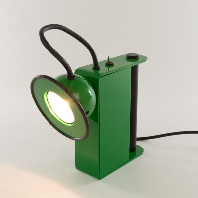 Green Minibox Table lamp by Gae Aulenti & Piero Castiglioni for Stilnovo