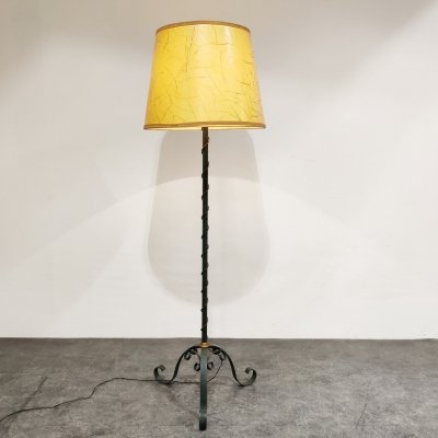 Vintage wrought iron floor lamp, 1960s