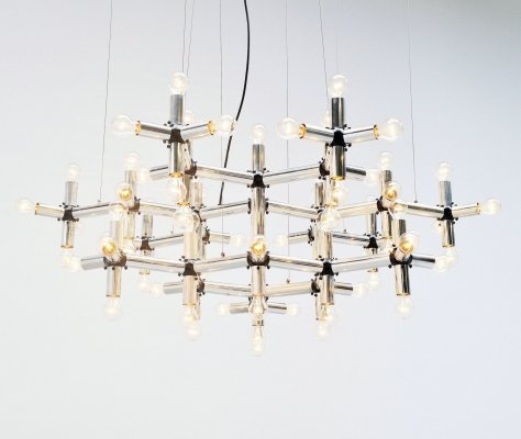 Robert Haussmann Lichtstruktur chandelier by Swiss lamp, 1969