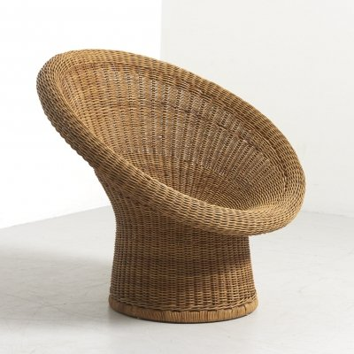 Wicker Basket Chair by Egon Eiermann for Heinrich Murrmann, Germany 1949