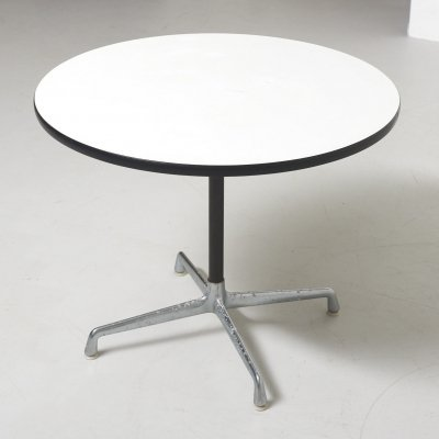 Round Dining Table by Charles & Ray Eames for Herman Miller, USA 1960's