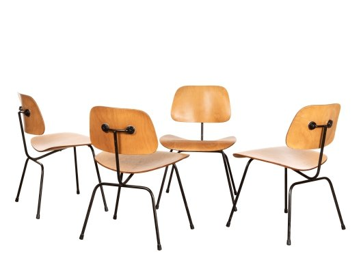 Set of 4 DCM dining chairs by Charles & Ray Eames for Herman Miller, 1950s