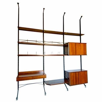 Mid-Century Adjustable Wall Unit by Ico Parisi for MIM Rome