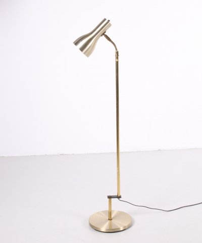 Vintage Danish golden floor lamp by Dansa, 1960s