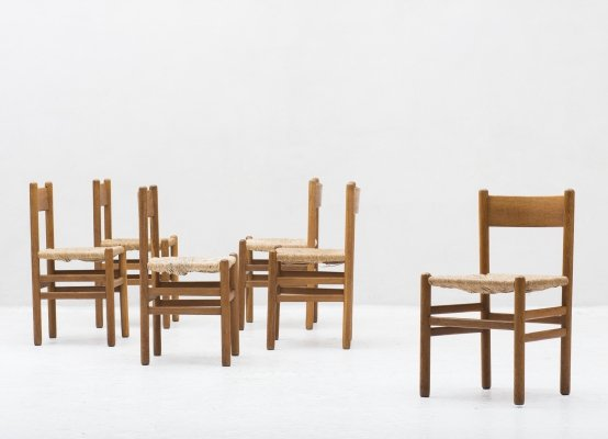 Set of 6 dining chairs by Johan Van Heuvel for AD Vorm, Dutch 1957