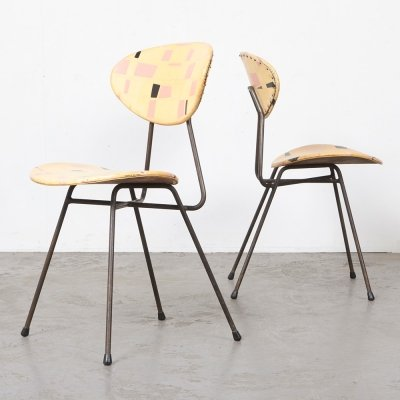 Rare Pair of Rob Parry 'Staatsmijnen' Chairs, 1955