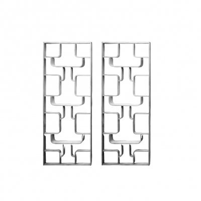 Pair of White room dividers by Ludvík Volák for Dřevopodnik Holešov, 1960s