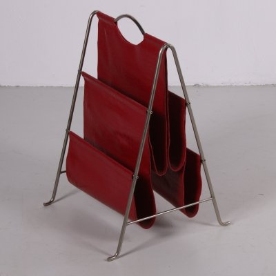 Red magazine rack, 1960s