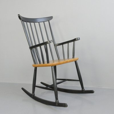 Mid Century Rocking Chair by Ilmari Tapiovaara, 1960s