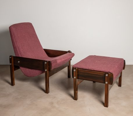'Rare' Vronka Armchair & leg rest by Sergio Rodrigues, 1960s