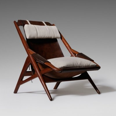 W.D. Andersag Leather Lounge chair, 1960s