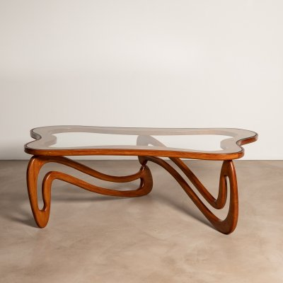 Curved 'Agua' coffee table by Giuseppe Scapinelli