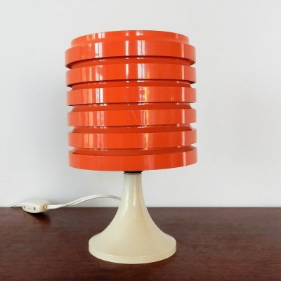 Orange 'Ringline series' table lamp by Paul Boissevain for Merchant Adventurers