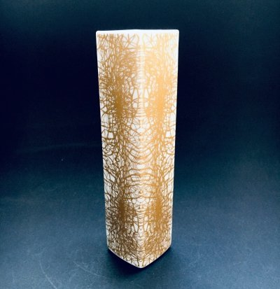 Art Porcelain Abstract Gold Pattern Vase by Heinrich & Co Selb Bavaria, Germany