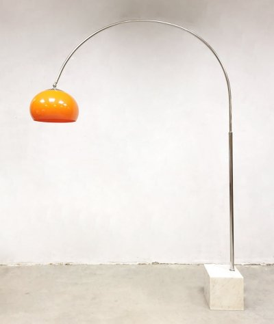 Midcentury design arc floor lamp by Harvey Guzzini