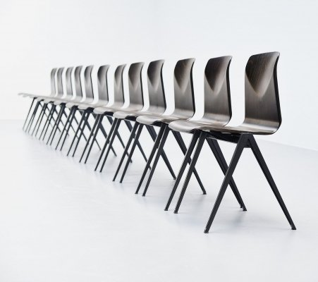 S22 Pagholz stacking chairs in black, Germany 1970