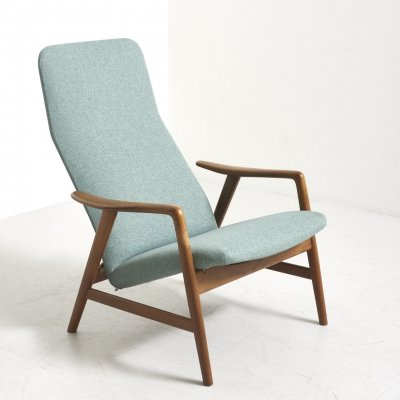 'Contour' Reclining Chair by Alf Svensson for Fritz Hansen, Denmark 1950's