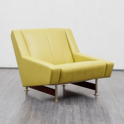 1960s lounge chair in leather