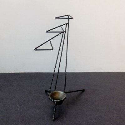 Vintage metal umbrella stand, 1950's