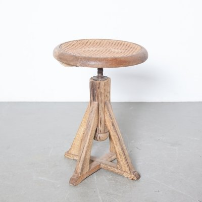 Piano stool in weathered oak, 1920s