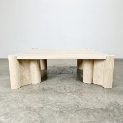 Jumbo travertine coffee table by Gae Aulenti