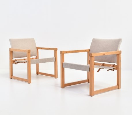 Pair of Diana Safari Chairs by Karin Mobring