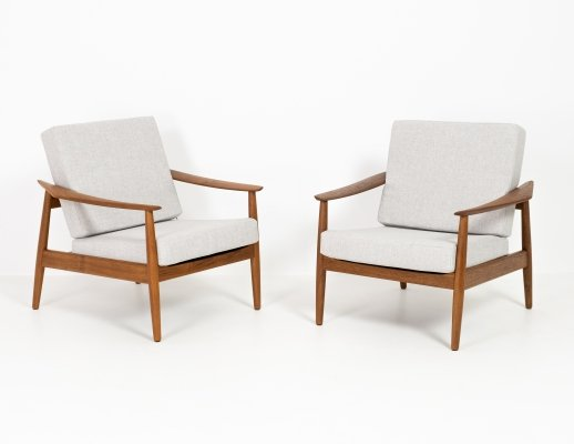 Pair of Model 164 lounge chairs by Arne Vodder, 1960s