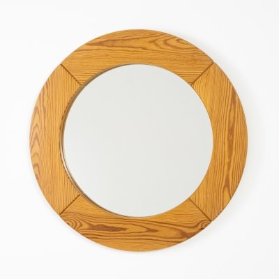 Pine mirror by Glasmaster Markaryd