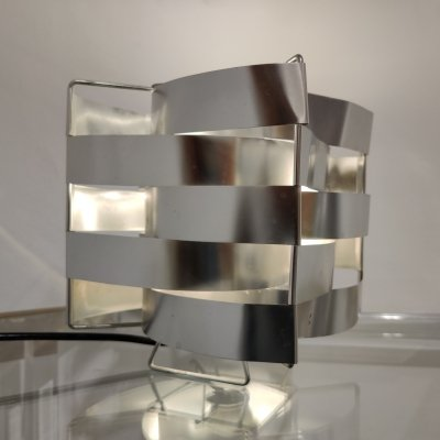 Aluminum table lamp by Max Sauze, 1970s