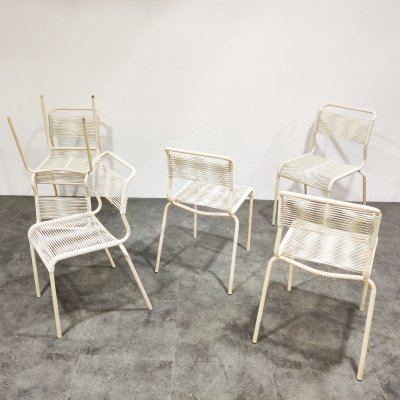 Set of 6 Vintage 'spaghetti' chairs, 1960s