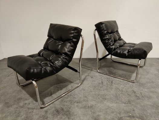 Pair of Vintage lounge chairs by Gillis Lundgren for Ikea, 1970s